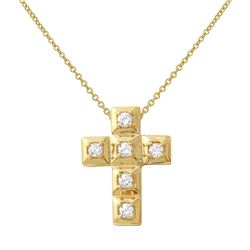 0.30 CTW Diamond Necklace 14K Yellow Gold - REF-42X2R