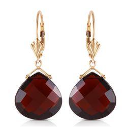 Genuine 17 ctw Garnet Earrings Jewelry 14KT Rose Gold - REF-48W9Y