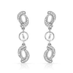 0.18 CTW Diamond Earrings 14K White Gold - REF-23W5H