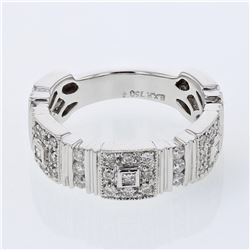 0.75 CTW Diamond Ring 18K White Gold - REF-103N2Y