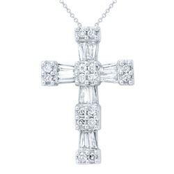 0.50 CTW Diamond Necklace 14K White Gold - REF-50Y8X
