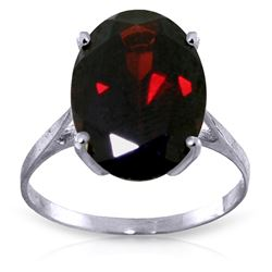 Genuine 6 ctw Garnet Ring Jewelry 14KT White Gold - REF-49A6K