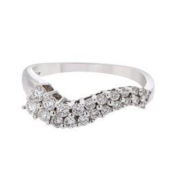 0.50 CTW Diamond Ring 14K White Gold - REF-40Y5X