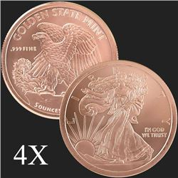 5 oz Walking Liberty .999 Fine Copper Round