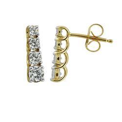 0.75 CTW Diamond Earrings 14K White Gold - REF-73W8H