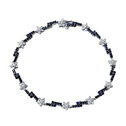 2.83 CTW White & Black Diamond Bracelet 14K White Gold - REF-109N2Y