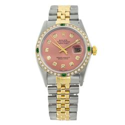 Rolex Pre-owned 36mm Mens Salmon Two Tone - REF-610M3R