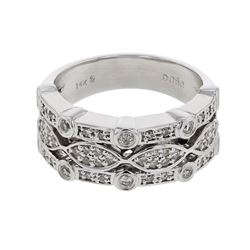 0.50 CTW Diamond Ring 14K White Gold - REF-68W8H
