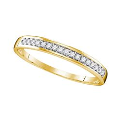 0.11 CTW Diamond Wedding Ring 10KT Yellow Gold - REF-14K9W