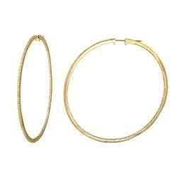 2.12 CTW Diamond Earrings 14K Yellow Gold - REF-175Y2X
