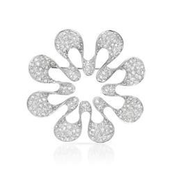 2.84 CTW Diamond Brooch 18K White Gold - REF-242K6W
