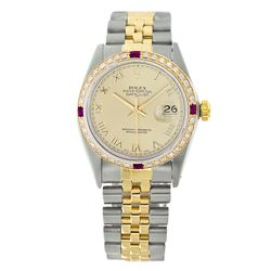 Rolex Pre-owned 36mm Mens Champagne Two Tone - REF-610K2X