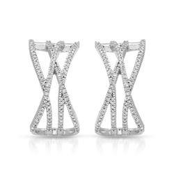 0.31 CTW Diamond Earrings 14K White Gold - REF-43X7R