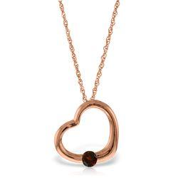 Genuine 0.25 ctw Garnet Necklace Jewelry 14KT Rose Gold - REF-29K2V