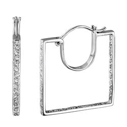 0.56 CTW Diamond Earrings 14K White Gold - REF-52N7Y