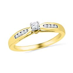 0.20 CTW Diamond Solitaire Bridal Ring 10KT Yellow Gold - REF-24F2N