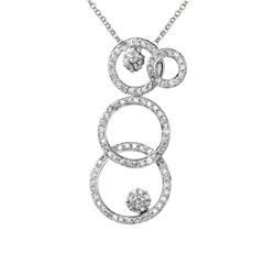 0.76 CTW Diamond Necklace 14K White Gold - REF-53W3H