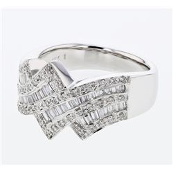 0.67 CTW Diamond Ring 18K White Gold - REF-128N3Y