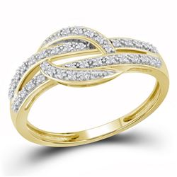 0.10 CTW Diamond Ring 10KT Yellow Gold - REF-16F4N