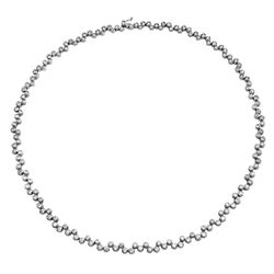 6.1 CTW Diamond Necklace 14K White Gold - REF-435W5H