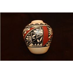 "Marked J. Gonzalez Mex. Acoma Pot- 8.5""H X 7""W"