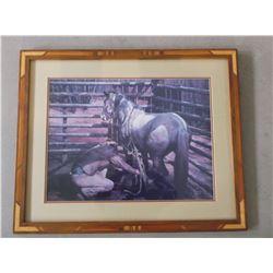 "Signed B Peets 1984  Print- 261/450- Frame 32.5""W X 26.5""H"