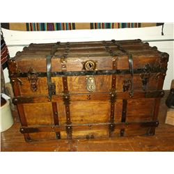 "Antique Trunk With Handles- Slatted- 38""L X 25""H X 21""D"