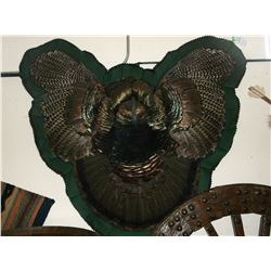 "Double Matted Turkey Wall Hanging- 8"" Beard- 51""W X 41""L"