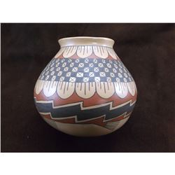 "Marked Lupe Sandoval Casa Grande Pot- 7.5""H X 7.5""W"