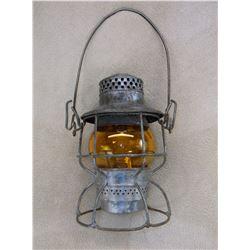 The Adams & Westlake Co Railroad Lantern- Milwaukee Road- Adlake Kero Amber Globe