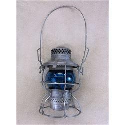 Marked NPRY Kero Railroad Lantern- Blue Globe