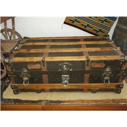 """Antique Trunk With Handles- 34""""L X 19""""W X 13""""H"""