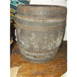 "Banded Whiskey Barrel- 20""H X 17""W"