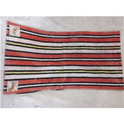 """Vintage Navajo Blanket With 2 Roy Rogers Tags- 44""""L X 23""""W"""