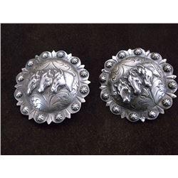 """Unmarked Visalia Silver Conchos- 2.5"""""""
