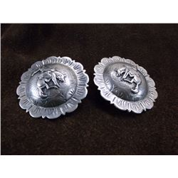 """Unmarked Silver Bucking Bronc Conchos- 2"""""""