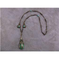 """Jade Pendant Necklace- 13"""""""