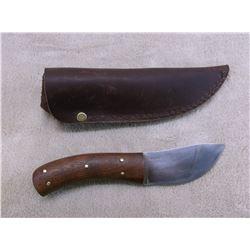"Marked Skaggs Handmade Knife- Sheath- 3.5"" Blade- 4.5"" Handle"