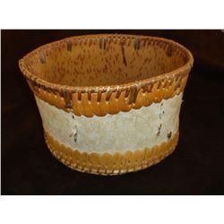 "Birch Bark Basket From Upper Yukon- Athabaskan Tribe- 5""H X 9""W"