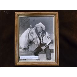 """Original Signature Photograph of Roy Rogers And Trigger- 11""""H X 9""""W"""