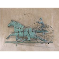 """Cart Horse Weathervane Without Stand- 32.5""""L X 18""""H"""
