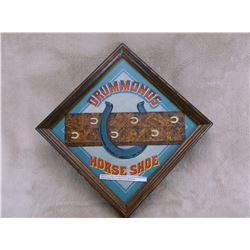 "Original Old Advertisement For Drummond's Horseshoe Plug Tobacco Company- 12.5"" X 12.5"""