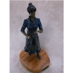 """Signed John W Gilliam Bronze- """"Cookhouse Queen""""- 5/20- 1999- 20""""H X 11""""W X 9""""D- Certificate of Authe"""