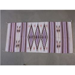 """Marked Artesanias Mato- 100% Wool Made In Mexico Blanket- 61.5"""" L X 29""""W"""