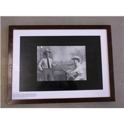 Artist Joe D Young Painting Himself Print- Personal Friend of Charlie Russell And Tom Mix