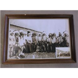 """Sioux Photo By Harmon Percey Marble- Frame 33.5""""W X 23.5""""H"""