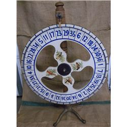 """Handcrafted Roulette Wheel- 42""""H X 29""""W"""