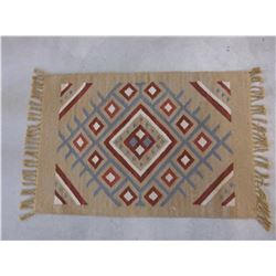 "Fringed Mexican Blanket- 42""L X 24.5""W"