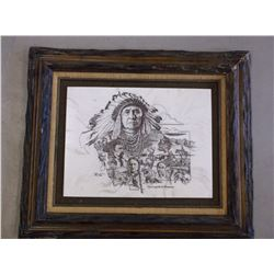 """Collectors Art Limited Print- """"The Legend Of Montana""""- 52/1500- David Frederic Gray- Letter of Authe"""