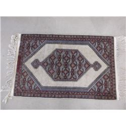 "Silk Persian Rug- Fringed- 58""L X 32""W"
